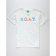 AT ALL G.O.A.T. Boys White T-Shirt