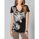 SO CAL Refrain Womens Lace Back Tee