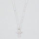 FULL TILT Tiny Rhinestone Cross Necklace