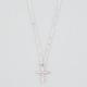 FULL TILT Tiny Rhinestone Cross Necklace