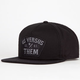 US VERSUS THEM Nomad Patch 2 Mens Snapback Hat