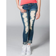 CELEBRITY PINK Destructed Womens Skinny Jeans