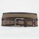 Faux Leather Trim Web Belt