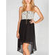 Mimi Chica Brocade Womens Hi Low Corset Dress
