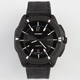Matte Black Canvas Band Watch