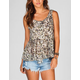 FULL TILT Floral Womens Peplum Top