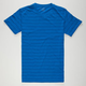 BLUE CROWN Pinstripe Mens T-Shirt
