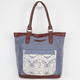 HURLEY Chambray Mix Up Tote Bag