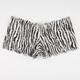 Noemi Zebra Lace Up Boyshorts