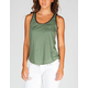 FULL TILT Faux Leather Trim Womens Tank