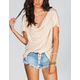 FULL TILT Womens Drape Back Hi Low Tee