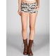 ALMOST FAMOUS Camo Womens Denim Shorts