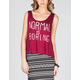 FULL TILT Normal Is Boring Womens Cage Back Tank