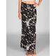 FULL TILT Floral Tie Dye Slit Maxi Skirt