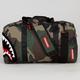 SPRAYGROUND Chenille Woodland Shark Laptop Duffle Bag