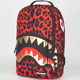 SPRAYGROUND Red Leopard Gold Shark Backpack