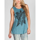 FULL TILT Geo Womens Mineral Wash Muscle Tank