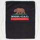 NOR CAL California Bear Cinch Sack