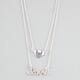 FULL TILT 2 Row Rhinestone Heart/Love Necklace