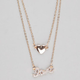 FULL TILT 2 Row Heart/Love Necklace