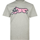 ICECREAM Striped Running Dog Mens T-Shirt