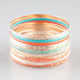 FULL TILT 13 Piece Patina Bangles