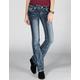 AMETHYST JEANS Stud Flap Pocket Womens Bootcut Jeans