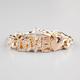 FULL TILT Rhinestone Love Chain Bracelet