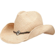Braided Cord Straw Cowboy Womens Hat