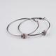 FULL TILT Rhinestone Skull Hoop Earrings