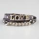 FULL TILT Love Faux Leather Chain Wrap Bracelet
