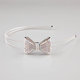FULL TILT Rhinestone Bow Double Wire Headband