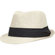 Banded Straw Womens Fedora