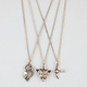 FULL TILT 3 Piece Fox/Owl/Bird Necklaces