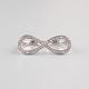 FULL TILT Rhinestone Infinity 2 Finger Ring
