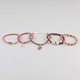 FULL TILT 5 Piece Love/Wishbone/Owl/Palm Bracelets
