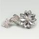 FULL TILT Rhinestone Flower Two Finger Ring