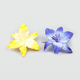 FULL TILT 2 Piece Glitter Plumeria Hair Pins