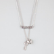 FULL TILT 2 Row Love/Key/Heart Necklace