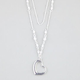FULL TILT 2 Row Beaded Heart Necklace