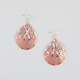 FULL TILT Diamond Cut Filigree Teardrop Earrings