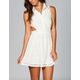 MMXIII Lace Cut Out Shirt Dress