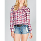 MMXIII Womens Basic Plaid Flannel Shirt