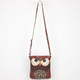 Cheetah Patchwork Owl Crossbody Bag