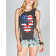 IRON FIST Skulls & Stripes Womens Tank