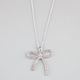FULL TILT Rhinestone String Bow Necklace