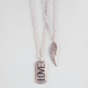 FULL TILT 2 Row Wing/Love Dog Tag Necklace