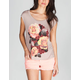 LIRA Rose Womens Open Back Tee