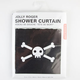KIKKERLAND Jolly Roger Shower Curtain