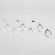 FULL TILT 6 Pair Stone/Diamond Dust Earrings
